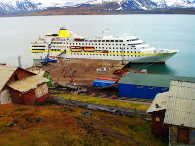 Berth of the city of Barensburg. Norway. Spitsbergen