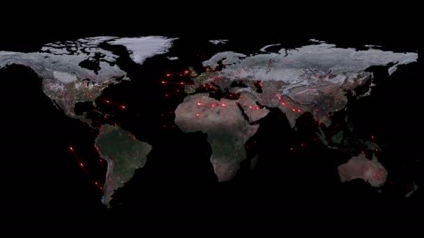 abstraktes Konzept des globalen Netzwerks. Internet und globale Kommunikation, globale Geschäfts- und Transportkommunikation der Erde