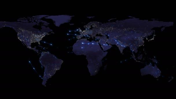 Abstraktní pojem globální sítě. Internetu a globální komunikace, globální obchodní a dopravní komunikace země