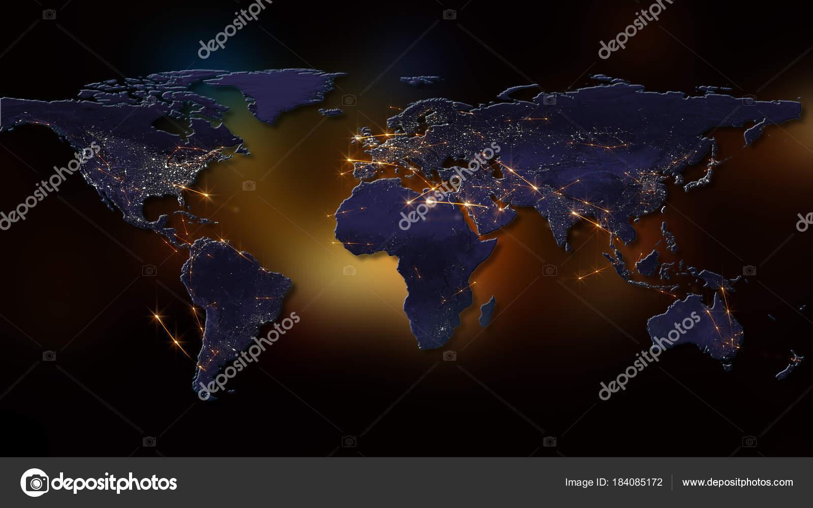 Rendering Best Concept Global Network Internet Global
