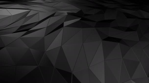 Abstraktní prostor polygonální nízké poly s připojením povrchu. Futuristické Hud pozadí