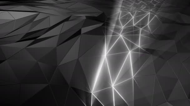 abstrakter polygonaler Raum low poly mit Verbindungsfläche. futuristischer feuchter Hintergrund