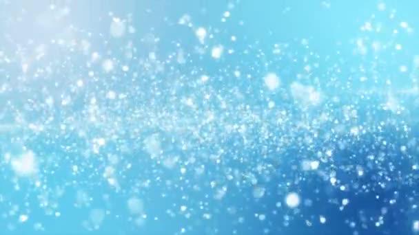 Abstraktní lesklé modré animované pozadí. Bezešvá smyčka. Elegantní pozadí založené na částice. Vhodné zázemí pro jemné a rafinované prezentace