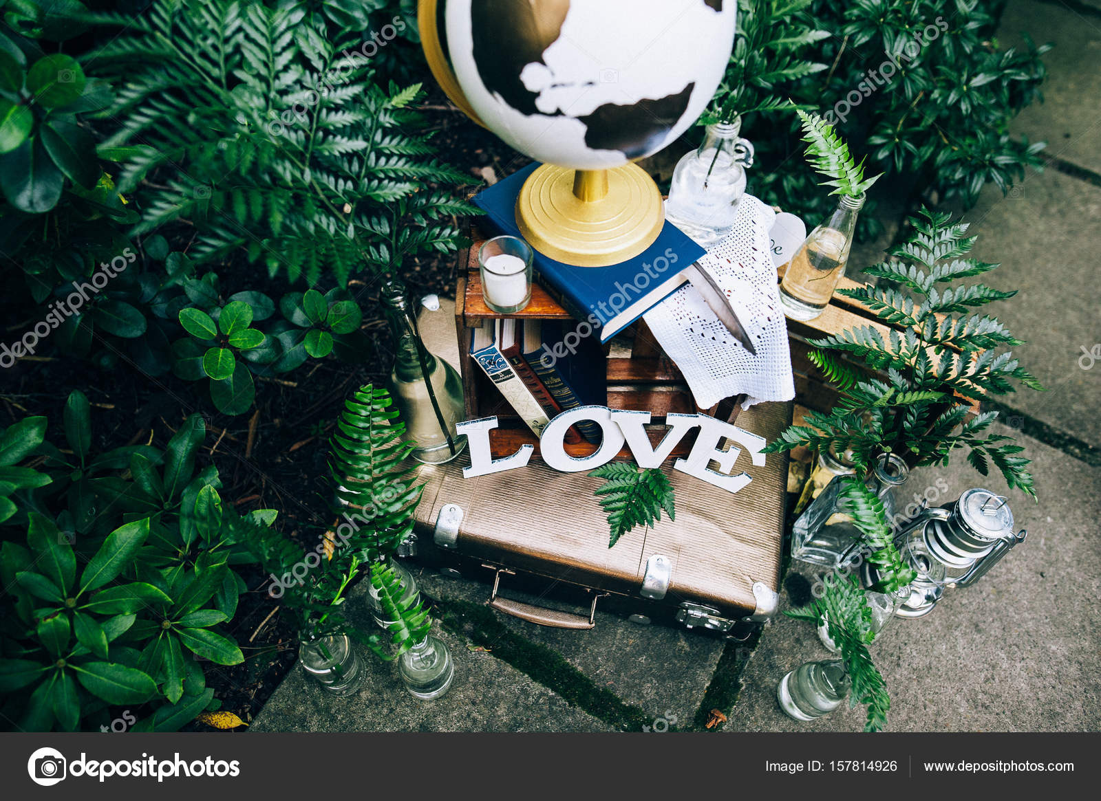Wedding decorations placed on ground stock photo andreygribov wedding decorations placed on ground stock photo junglespirit Gallery