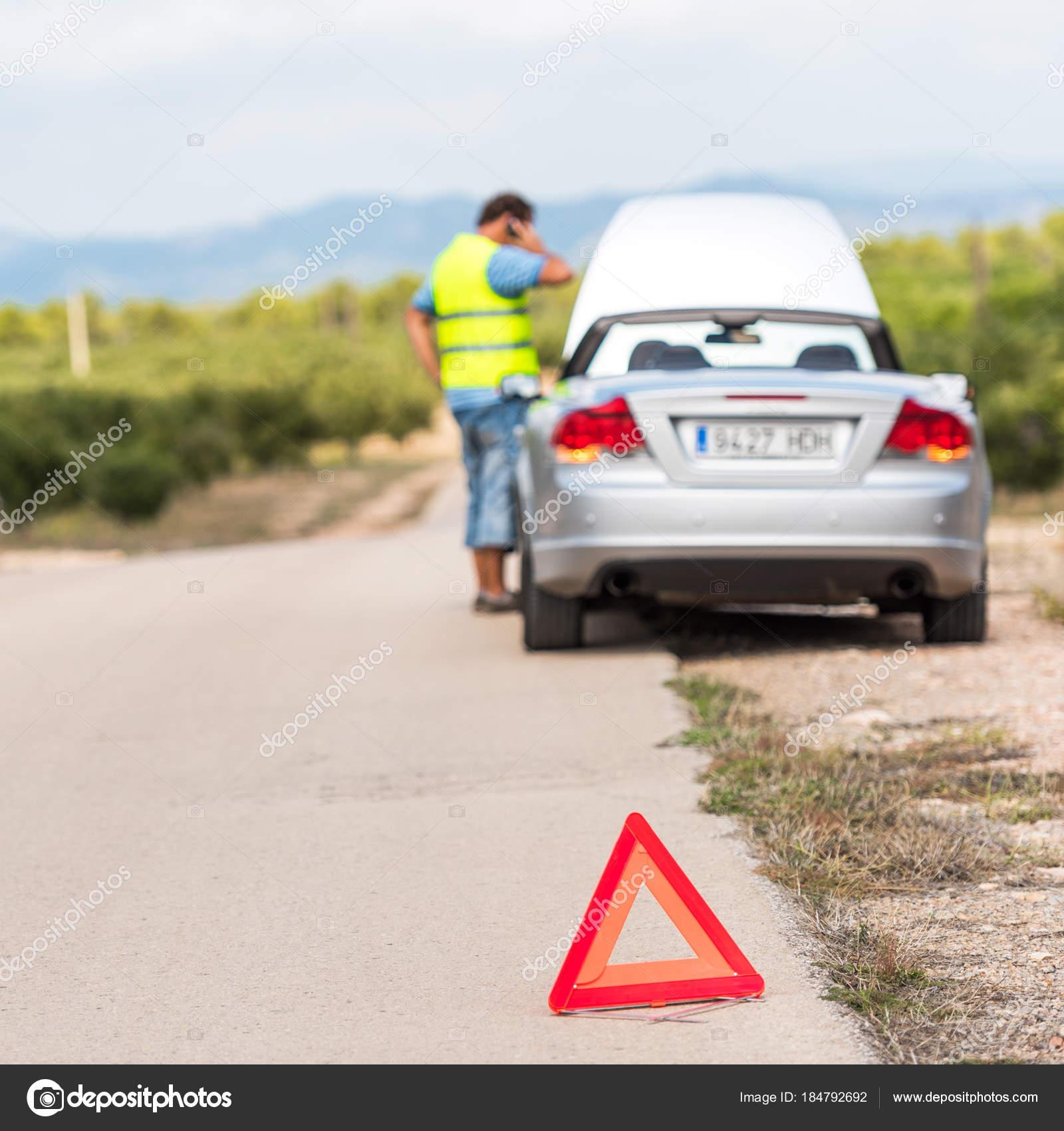 The Spanish Landscape The Car Broke Down On The Road Tarragona