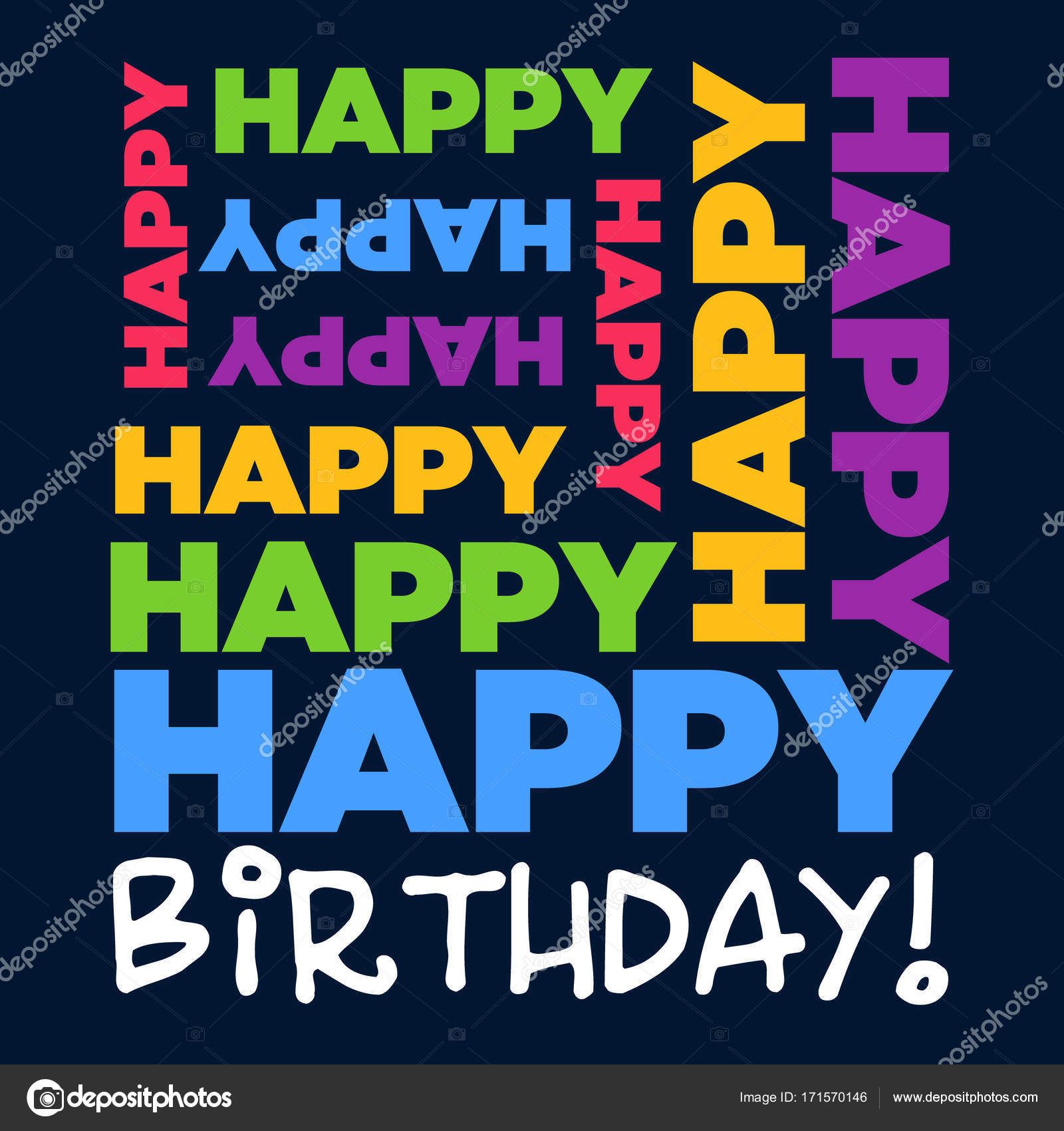 Happy birthday greeting card stock vector mictoon 171570146 happy birthday greeting card stock vector kristyandbryce Image collections