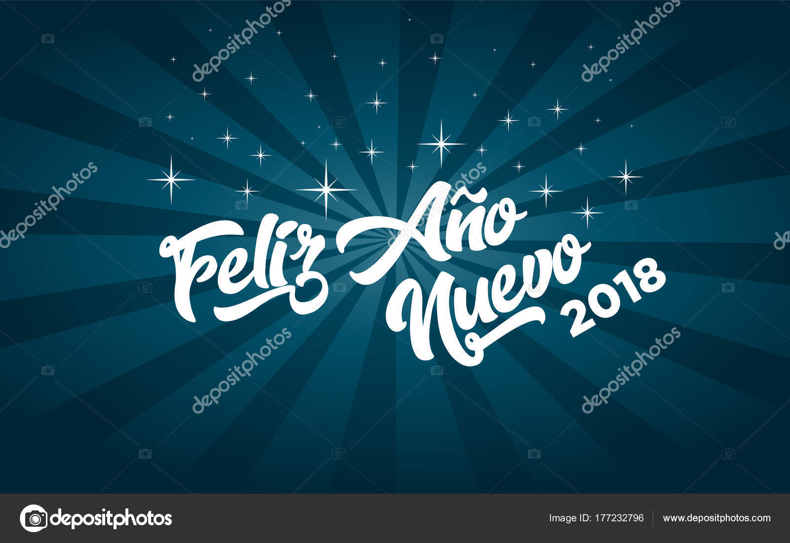 spanish happy new year 2018 greeting card stock vector