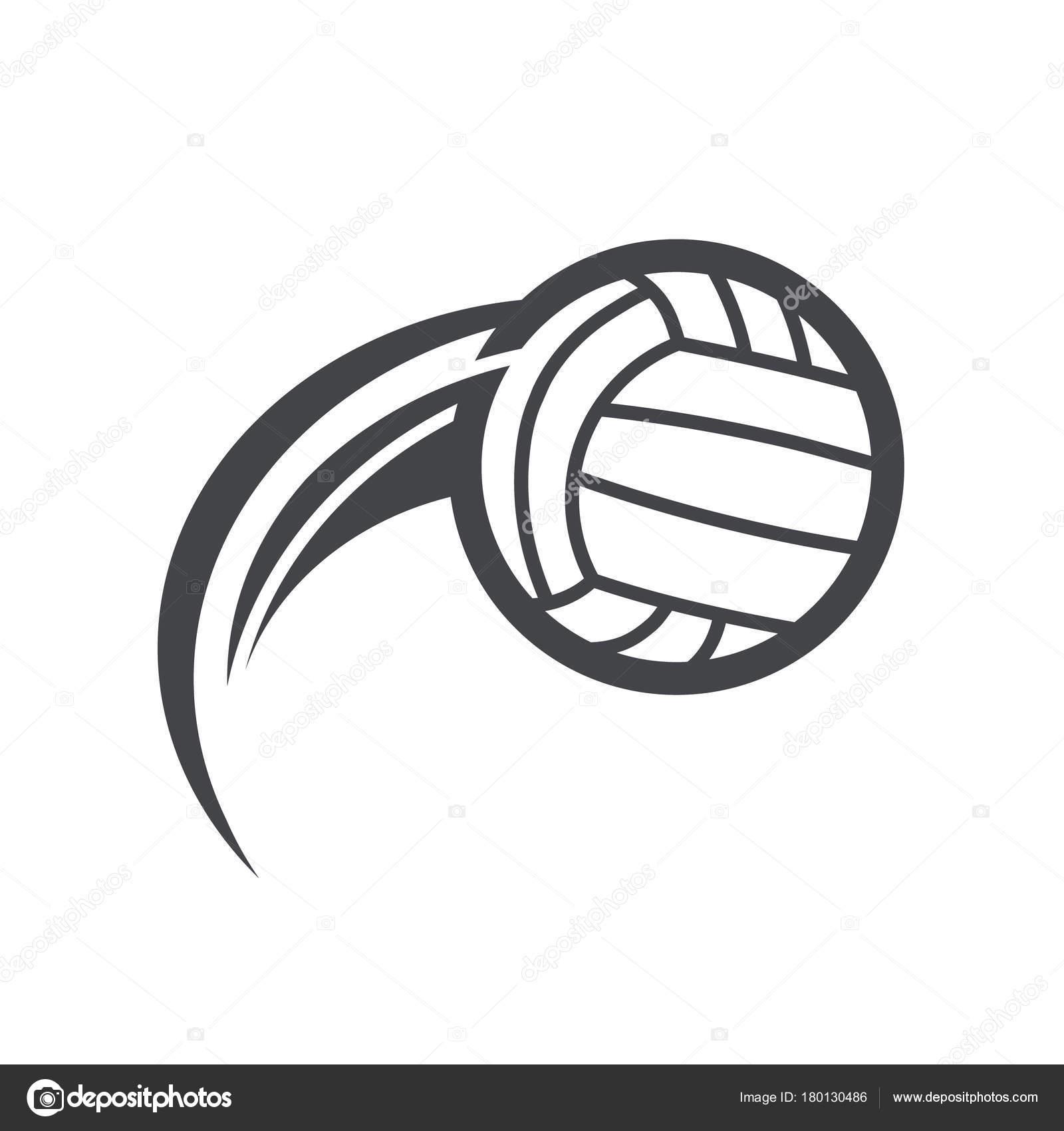 Swoosh Volleyball Logo Icon Stock Vector C Mictoon 180130486