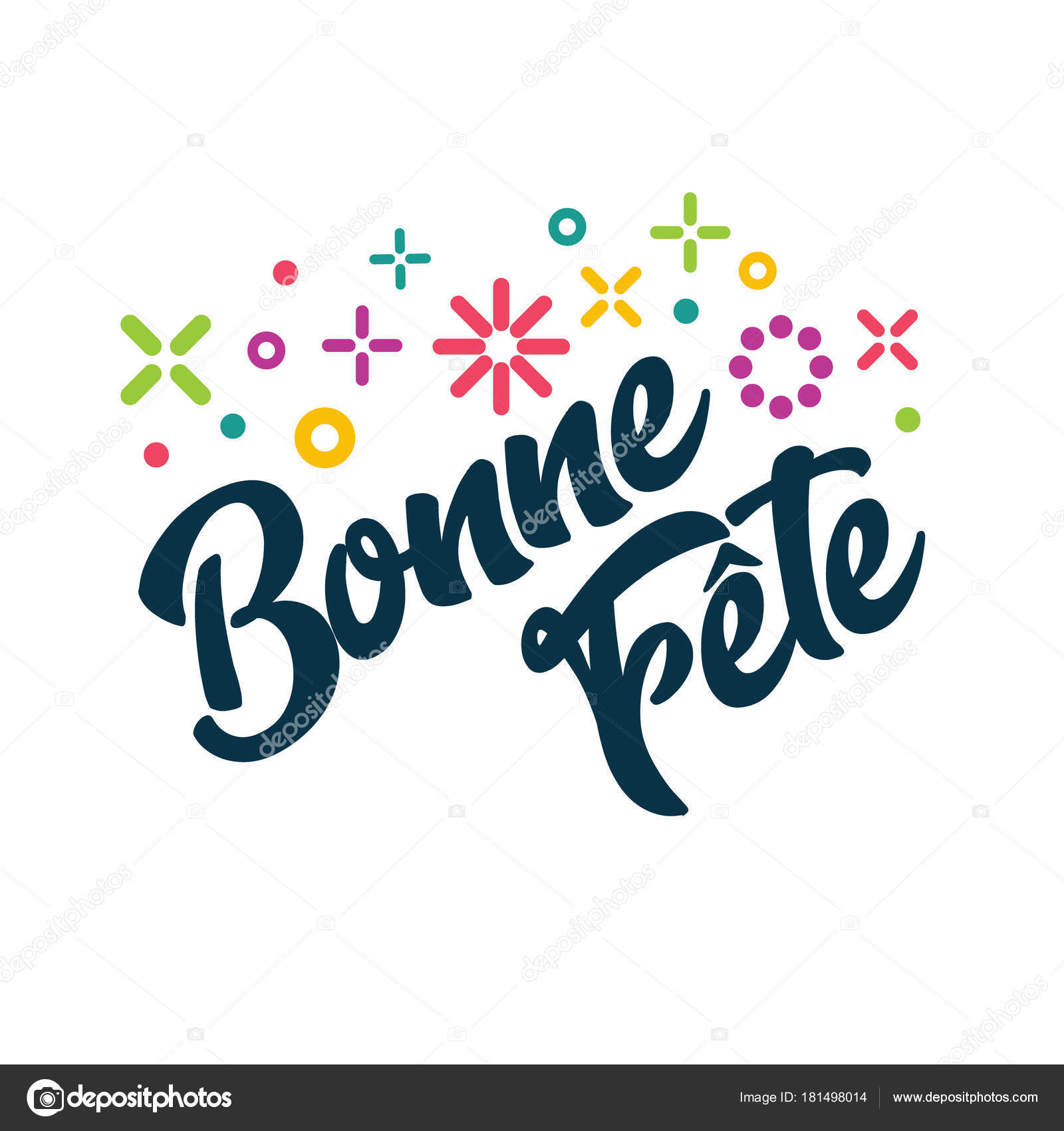 bonne fete french happy birthday greeting invitation card stock