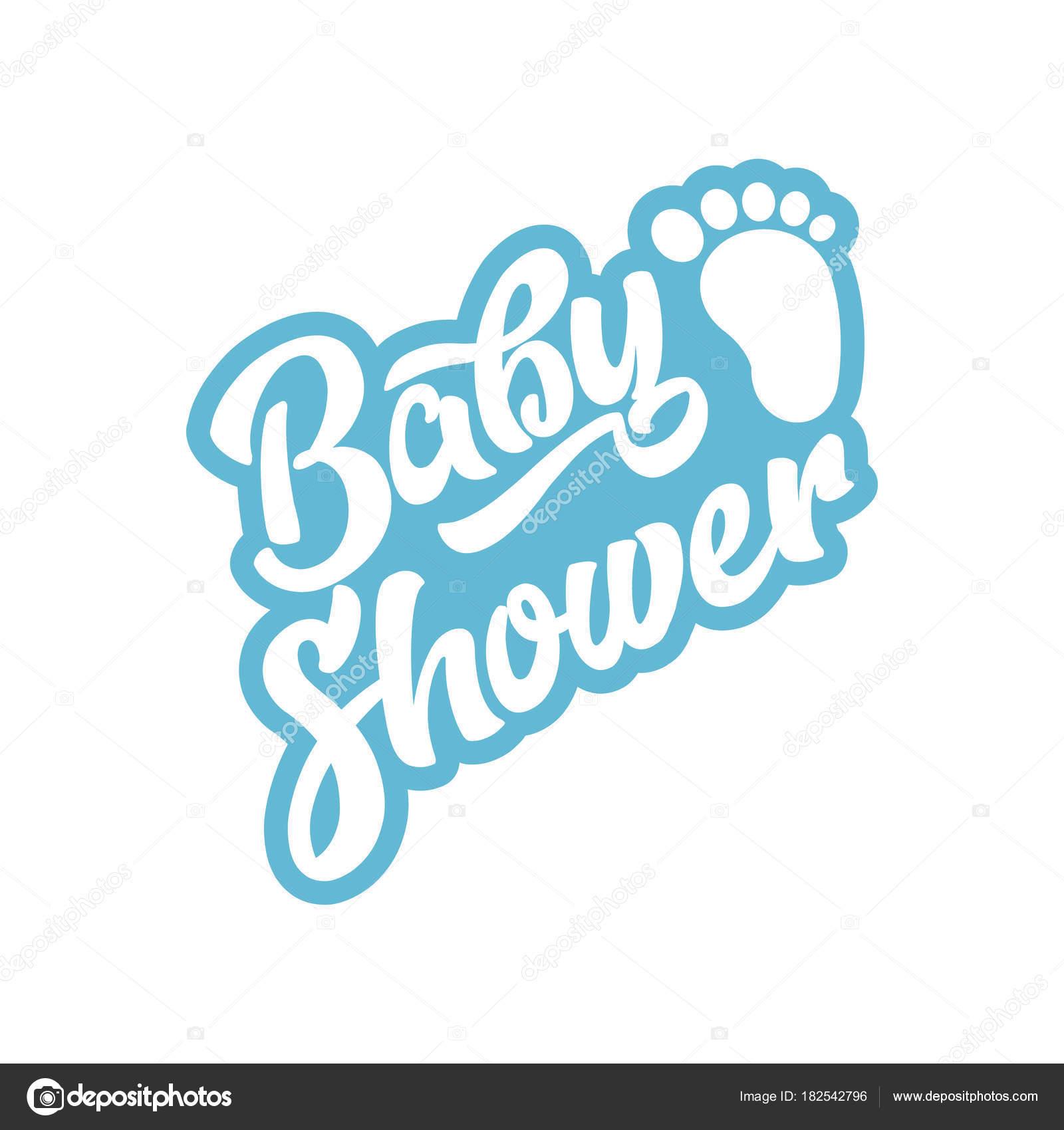 Boy Baby Shower Invitation Card Baby Foot Stock Vector Mictoon