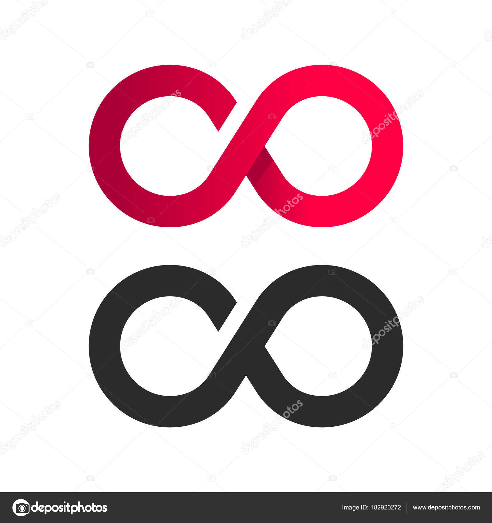 Infinite Symbol Logo Icon Stock Vector Mictoon 182920272