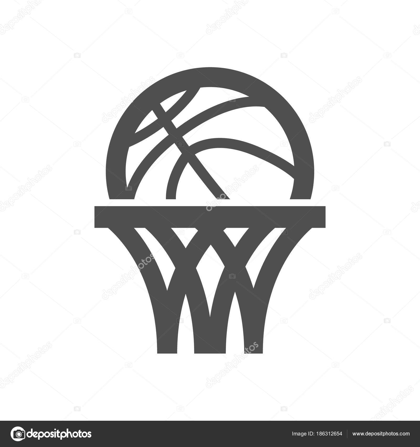 basket ball basketball net logo icon symbol sport design