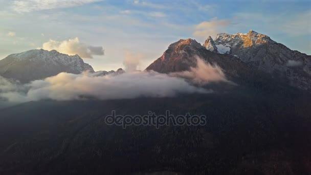 Time Lapse Wolken über Watzmann und Hochkalter Berge, Berchtesgaden, Deutschland