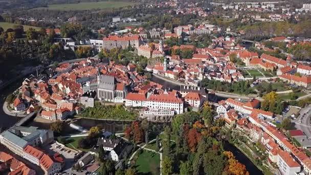Letecké panorama Český Krumlov
