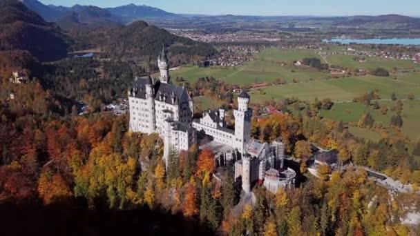 Flug nach Schloss Neuschwanstein, Deutschland.