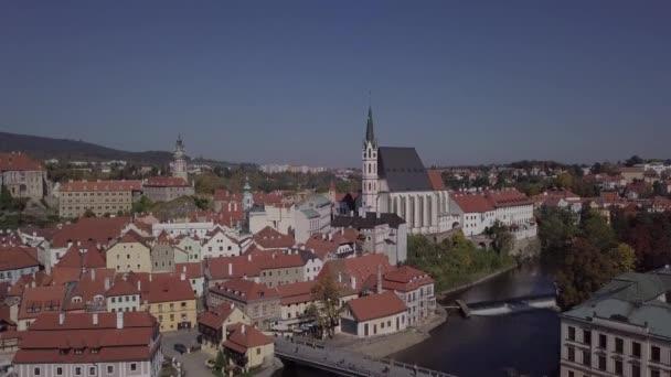 Letecké panorama Český Krumlov. Nedotčené formát protokolu