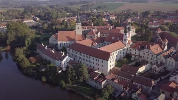 Staré město Telč, Česká republika, od shora. Nedotčené formát protokolu