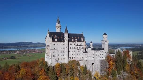 Vista di Neuschwanstein castle, Baviera, Germania