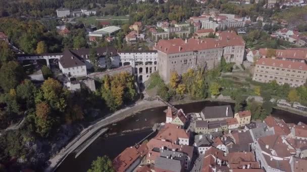 Letecké panorama starého města Český Krumlov. Nedotčené formát protokolu