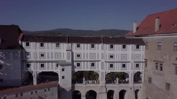 Letecký pohled na most hradu Český Krumlov. Nedotčené formát protokolu