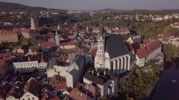Letecké panorama starého města Český Krumlov