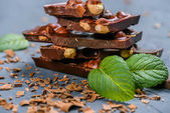 čokoládové tyčinky s ořechy