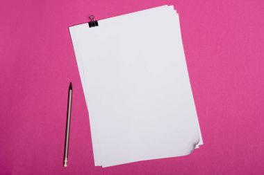 Blank white papers