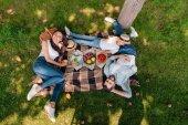 Fotografie Šťastná rodina na pikniku