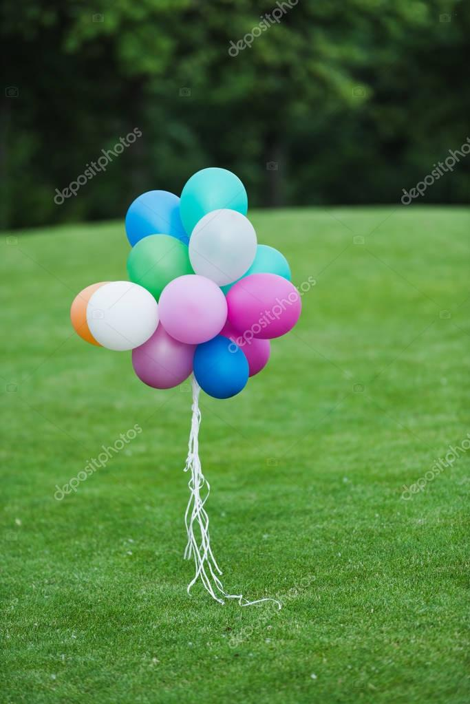 Colorful balloons in park