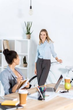 Multiethnic businesswomen at office