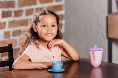 african american girl at tea party