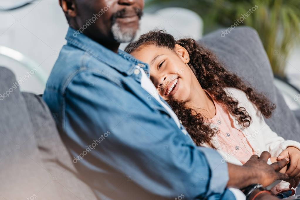 African american father with daughter