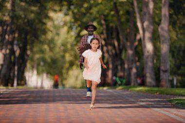 african american girl in park