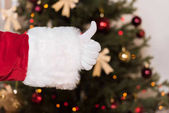 Santa claus s palcem nahoru