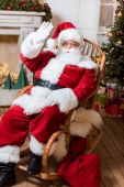 Fotografie santa claus in rolling chair