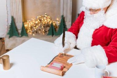 santa claus signing wish list
