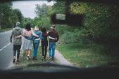 Fotografie Freunde gehen zusammen