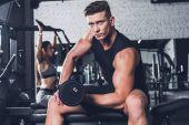 sportos férfi súlyzó