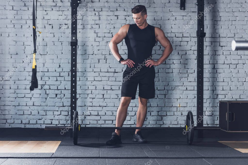 athletic man in gym