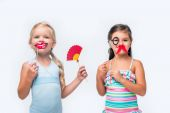 Fotografie adorable kids with party sticks