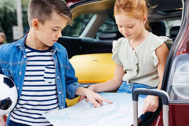 Kids with map