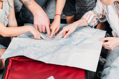 pointing at map