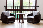 armchairs and coffee table