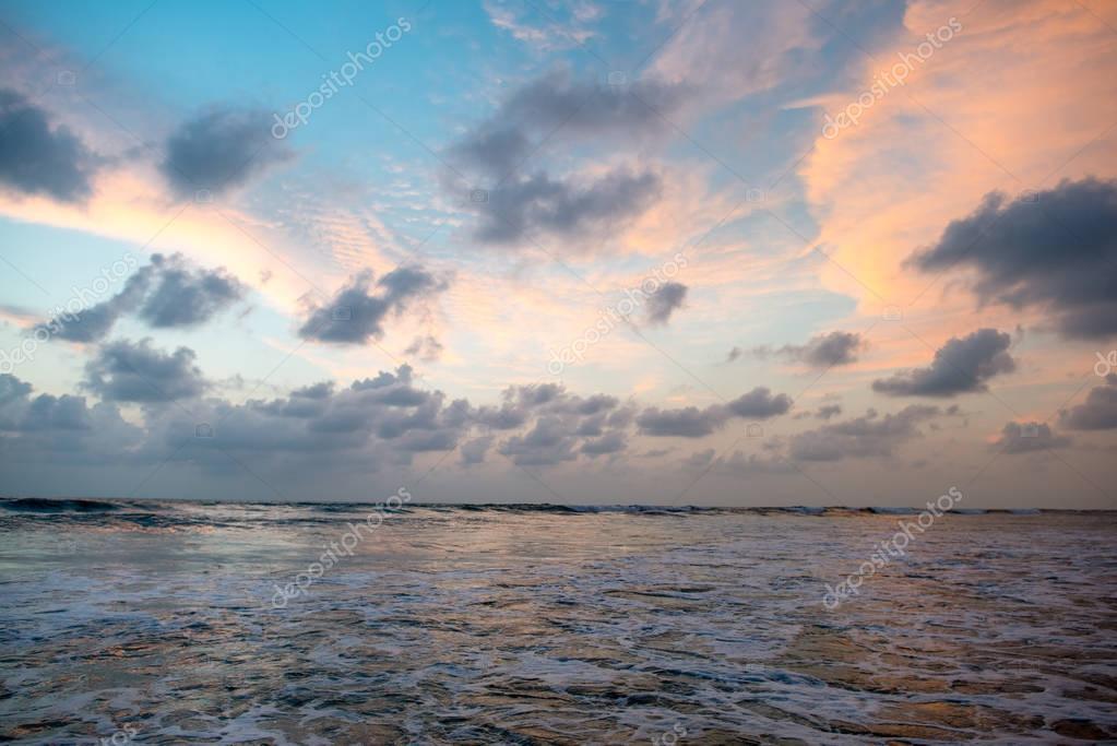 sunset sky over sea