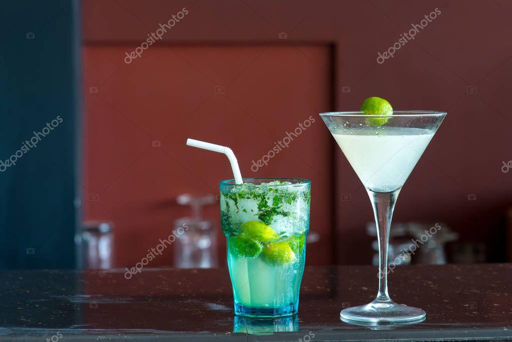 margarita and mojito cocktails