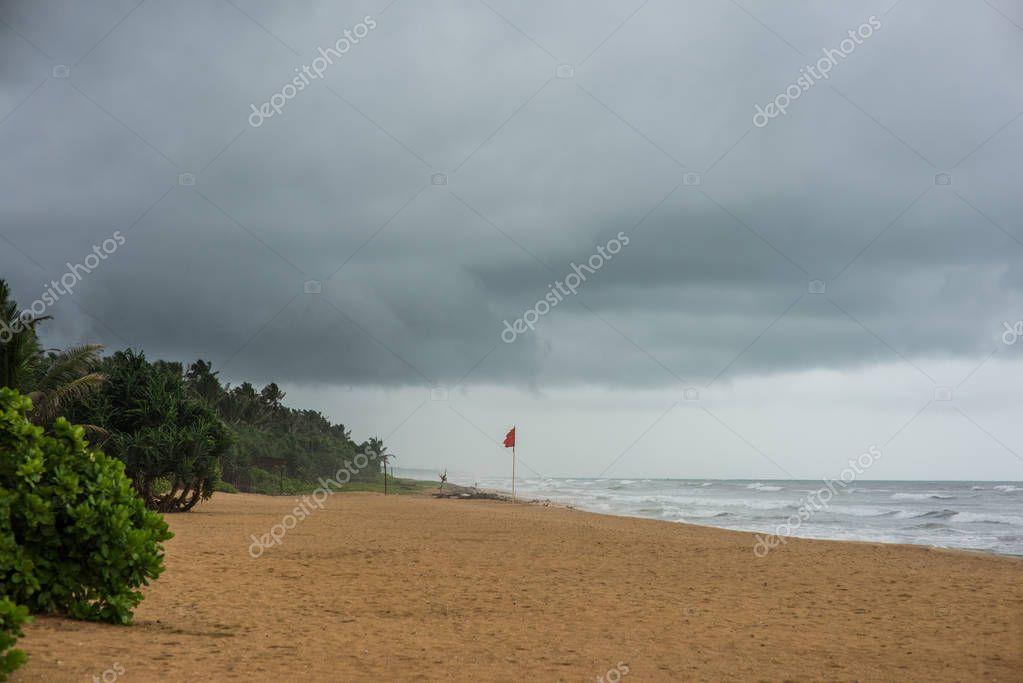 stormy sky over sea