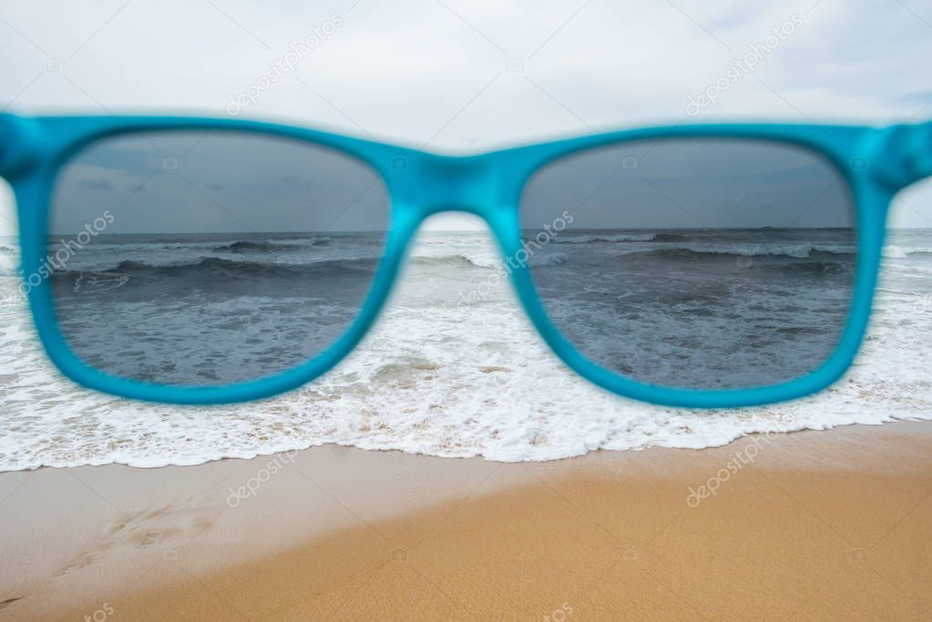 sea through sunglasses