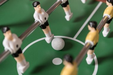 Close-up view of table football, selective focus stock vector