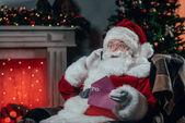 beszélő smartphone Santa