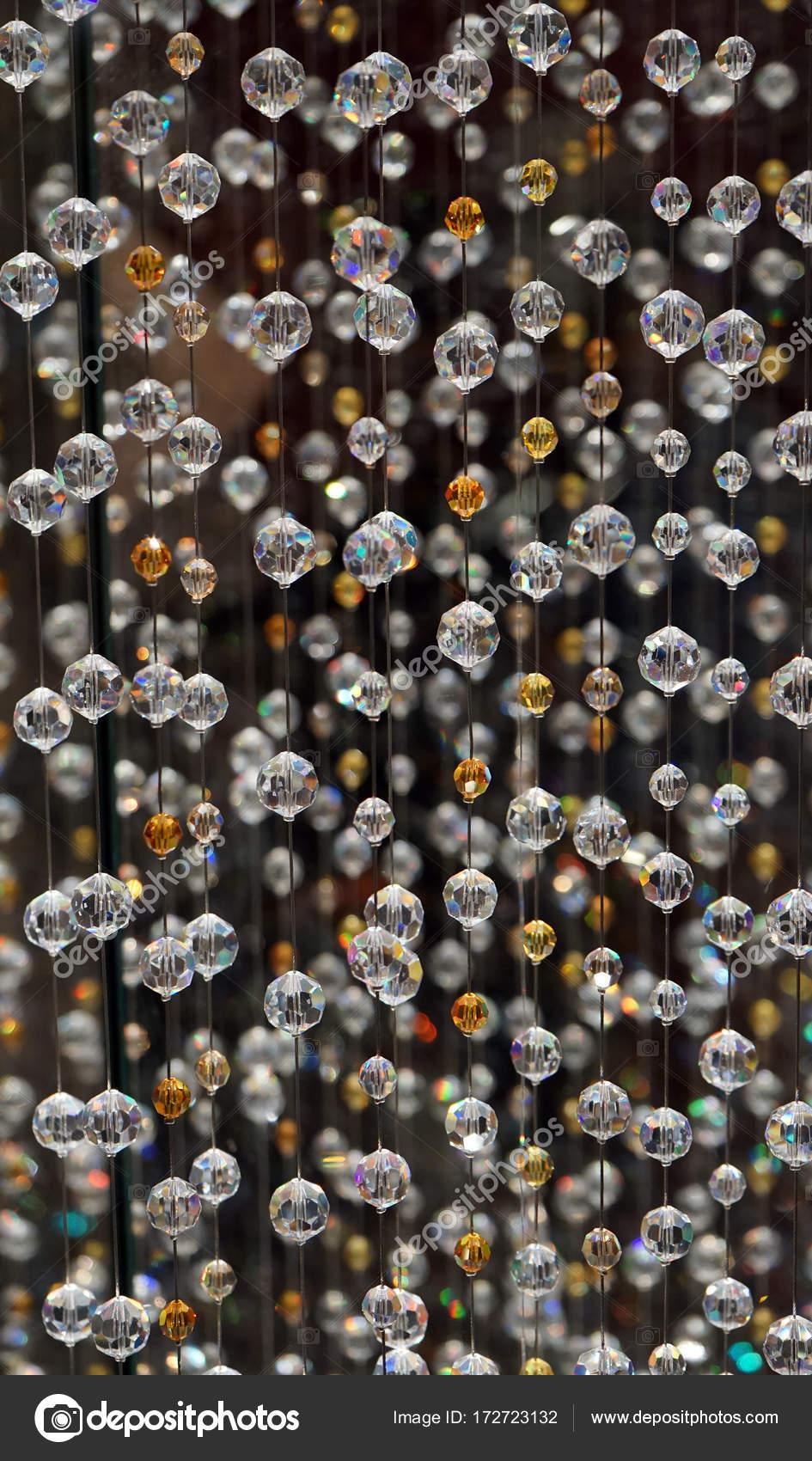 Swarovski Kristall Perlenvorhang. Bead Gardinen Muster, Textur ...
